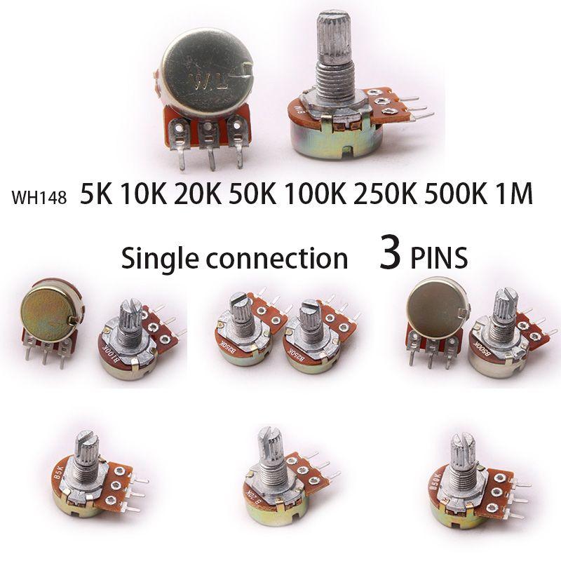 Glyduino Wh148 5 K 10 K 20 K 50 K 100 K 250 K 500 K 1 M Lineaire Potentiometer Pot Enkele Joint Voor Arduino Arduino 10 Things Components
