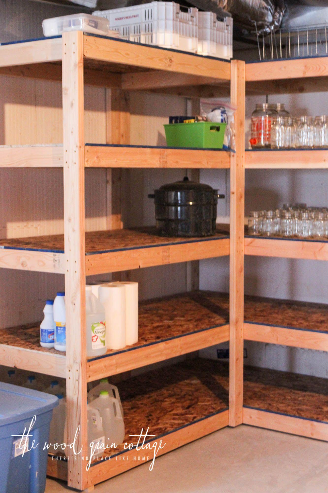 Diy Basement Shelving Basement Shelving Diy Wood Shelves Diy
