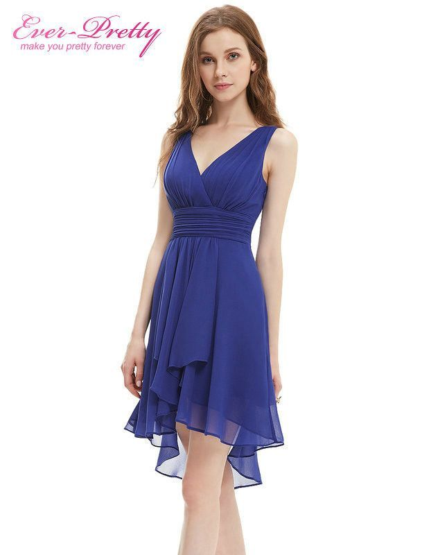 Bridesmaid Dresses Ever Pretty Summer Style Ruffles Sexy V Neck
