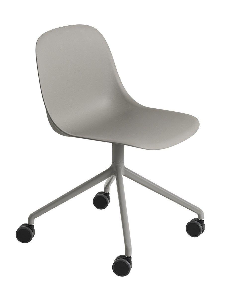 muuto fiber side chair swivel base on castor mintroom. Black Bedroom Furniture Sets. Home Design Ideas