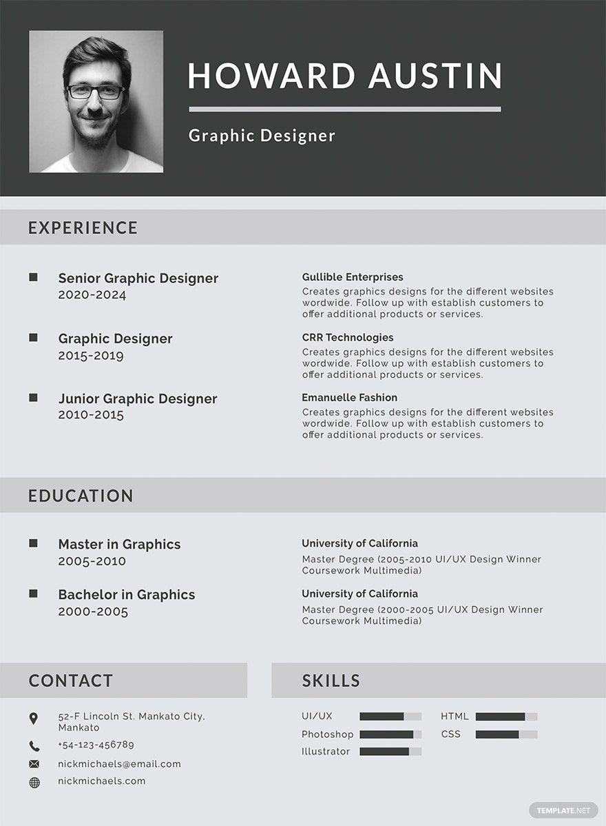 Free Basic Resume Template in 2020 Basic resume