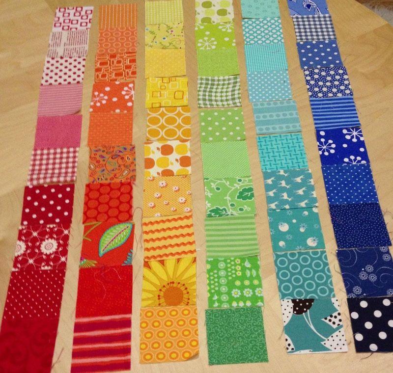 Rainbow Scrap Strip Quilt Tutorial | Strip quilts, Quilt tutorials ... : patchwork quilt for beginners - Adamdwight.com