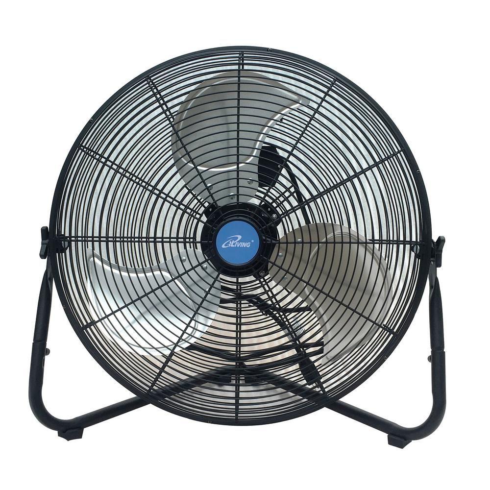 Iliving 20 In Multi Purpose High Velocity Floor Wall Fan Black