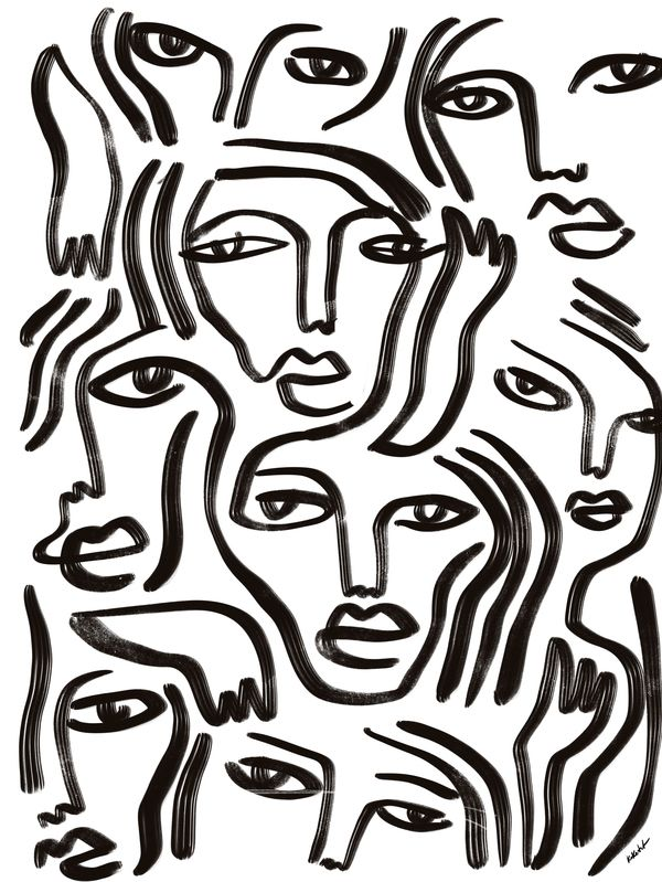Team you  at ArtfullyWalls, digital sketch by koketit