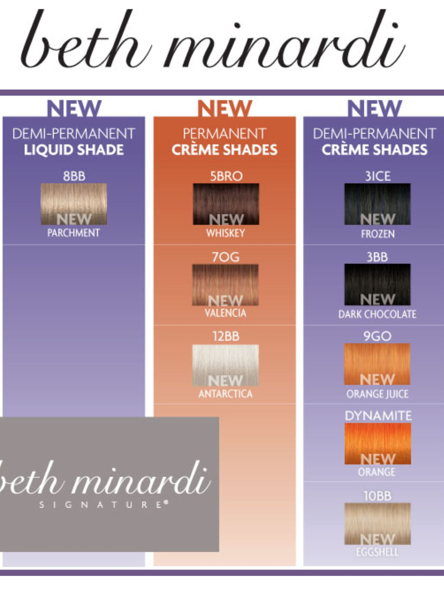 New Colors Available Now Beth Minardi In 2018 Pinterest Hair
