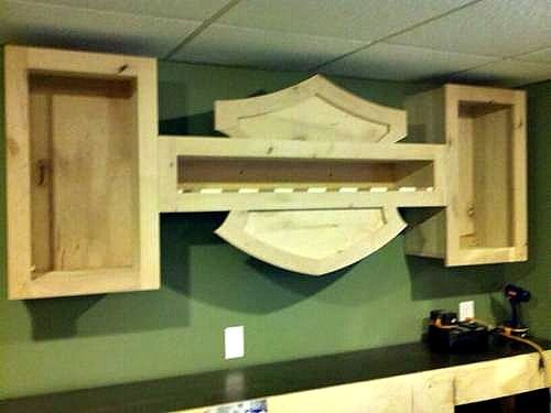 Such An Awesome Idea For A Bar In The Mancave Harley Davidson Of Long Branch Www Hdlo Harley Davidson Decor Harley Davidson Wallpaper Harley Davidson Crafts