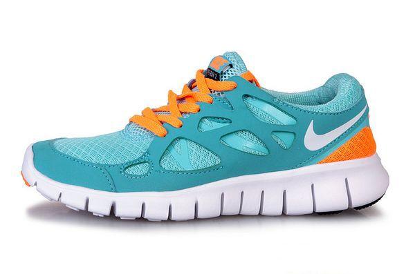 new style d15ed 87a4f Womens Nike Free Run 2 Blue Orange
