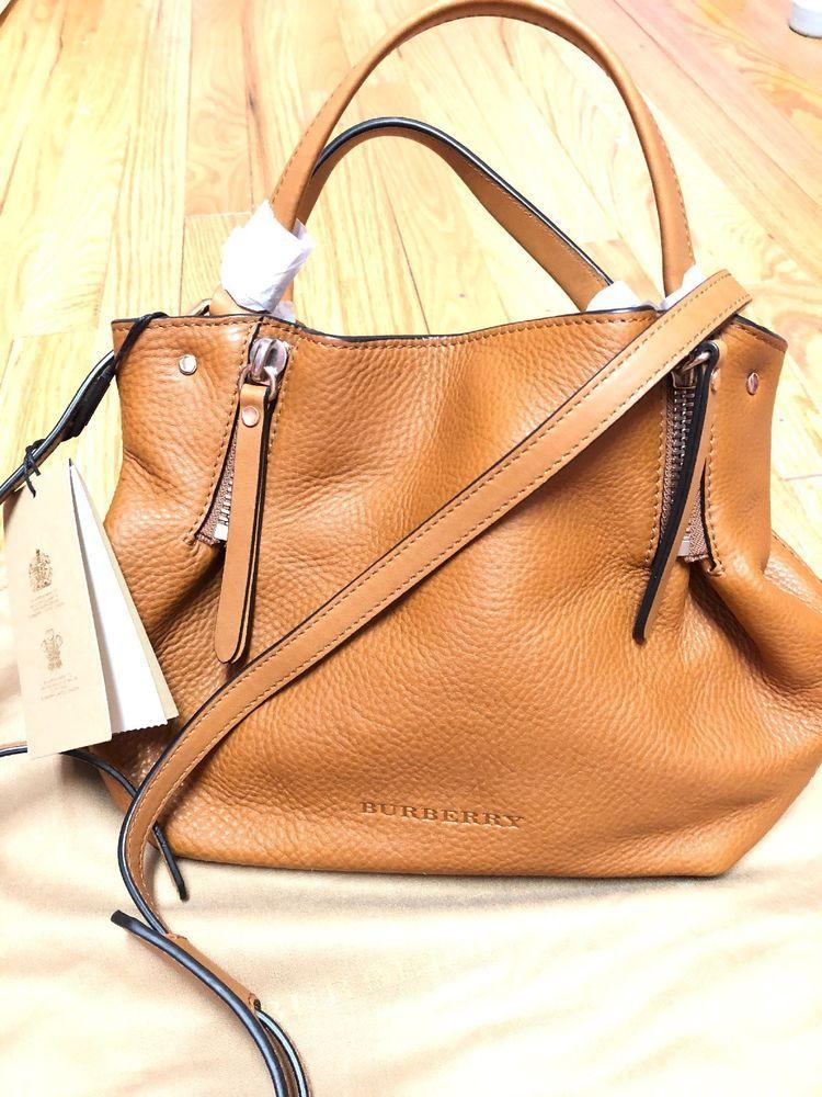 a68df1f970b Burberry Brit Small Maidstone Leather Canvas Check Handbag~Saddle Brown NWT   purses  fashion