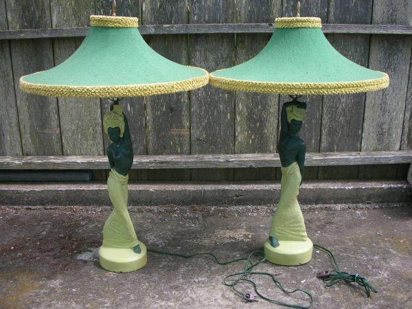 Balinese Lamps By Reglor Of California Circa 1949