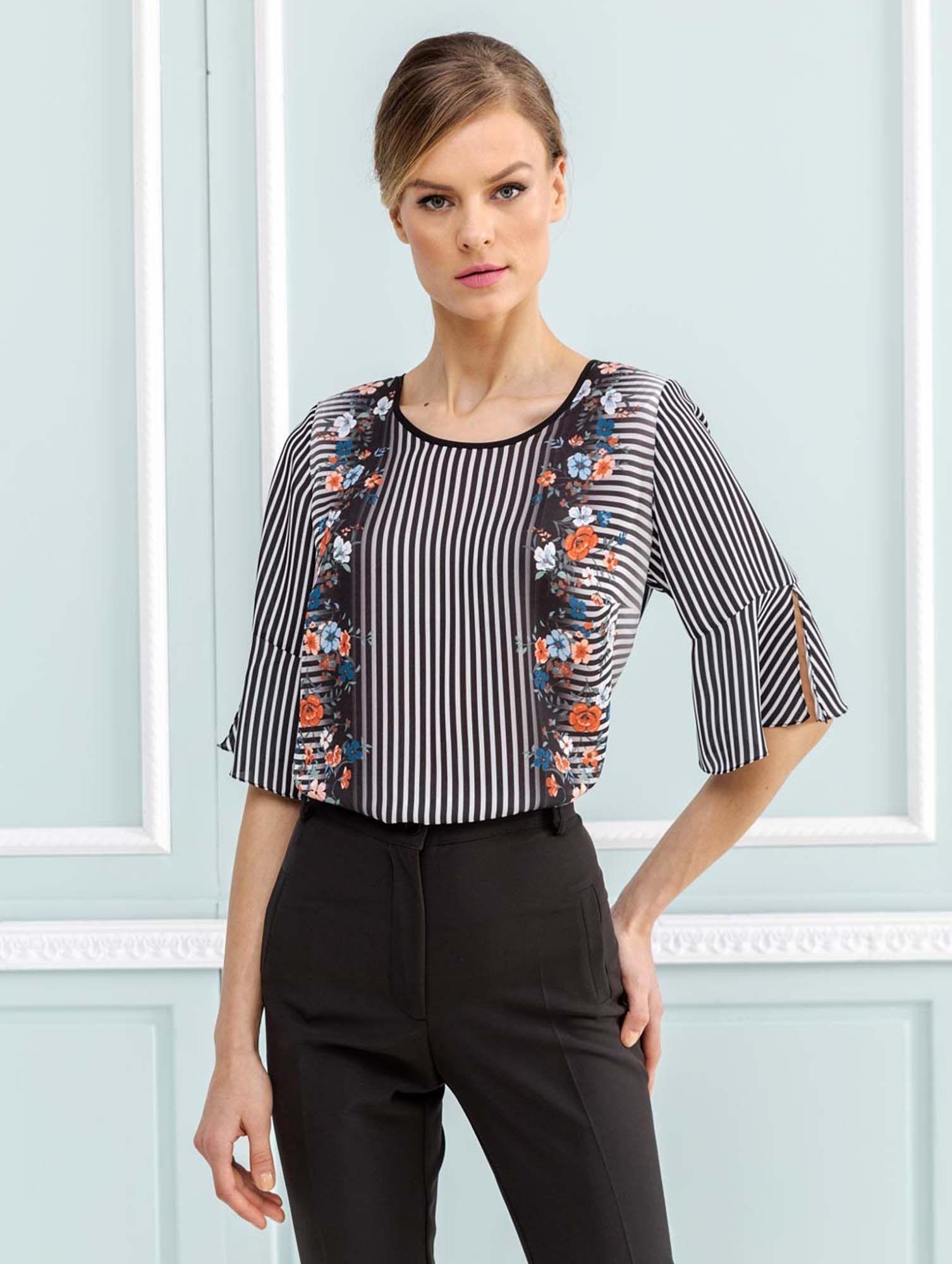 21d258a0d91 Μπλούζα υφασματινη, 2019 | tops-blouses | Μπλούζα, Βολάν και Ράφια