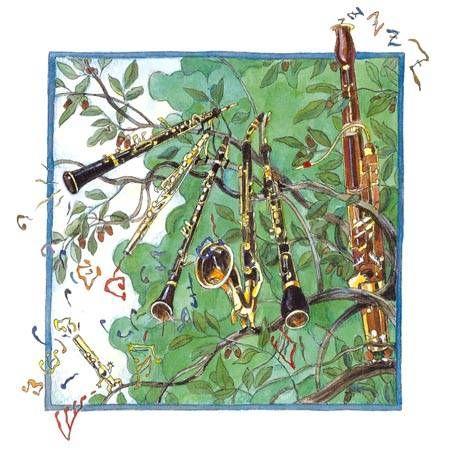 Piccolo, Saxo y compañía. Ilustraciones Jesús Gabán