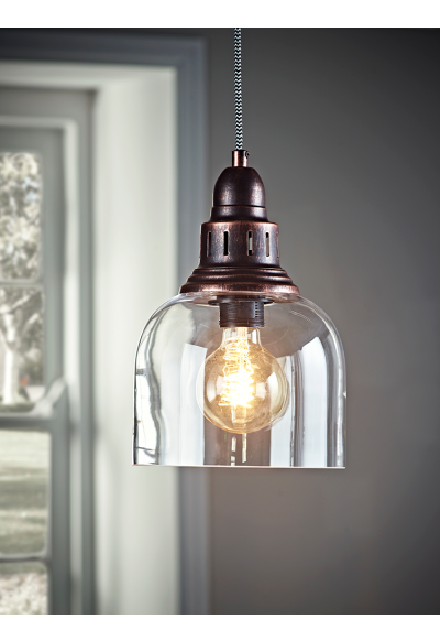 New Antique Copper And Gl Pendant Lighting