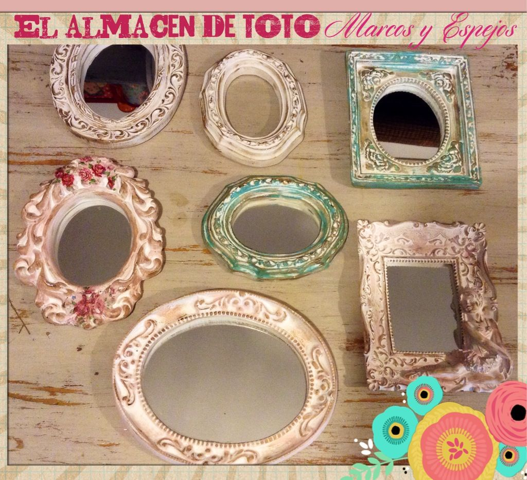 Espejos con marcos patinados, by Almacen de Toto   El almacen de ...
