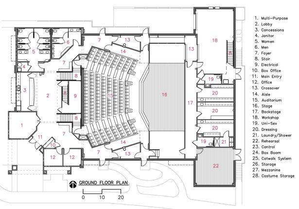 Camelot Theatre Auditorium Design Theatre Architecture Ground