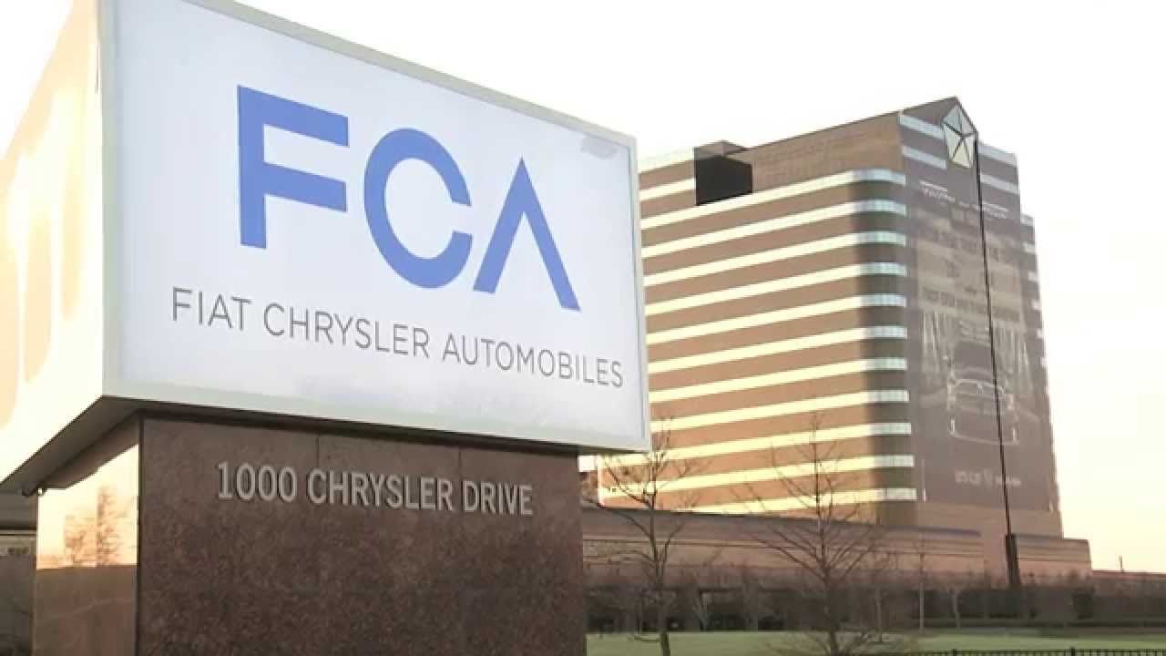 Fiat Chrysler Automobiles Fca Sign Was Unveiled At The Chrysler