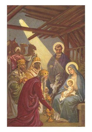 nativité avec les rois mages   Noël chrétien, Nativité, Images