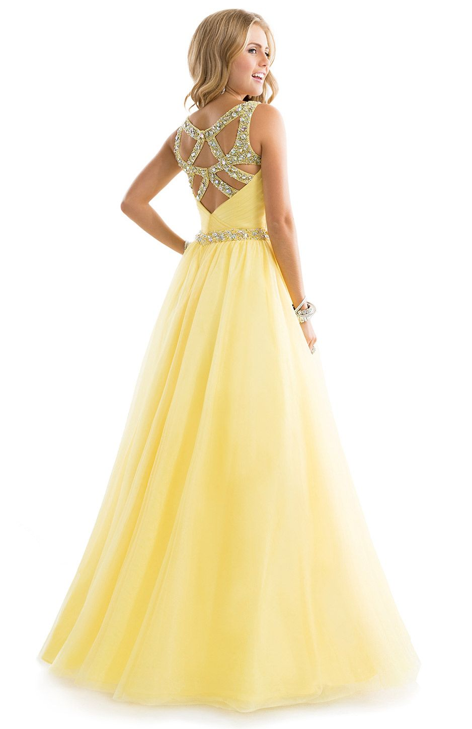 Ball gown dress with ruched tulle by flirt dresses