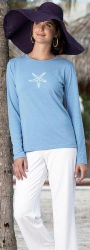 Starfish sun protection tshirt Nautical outfits