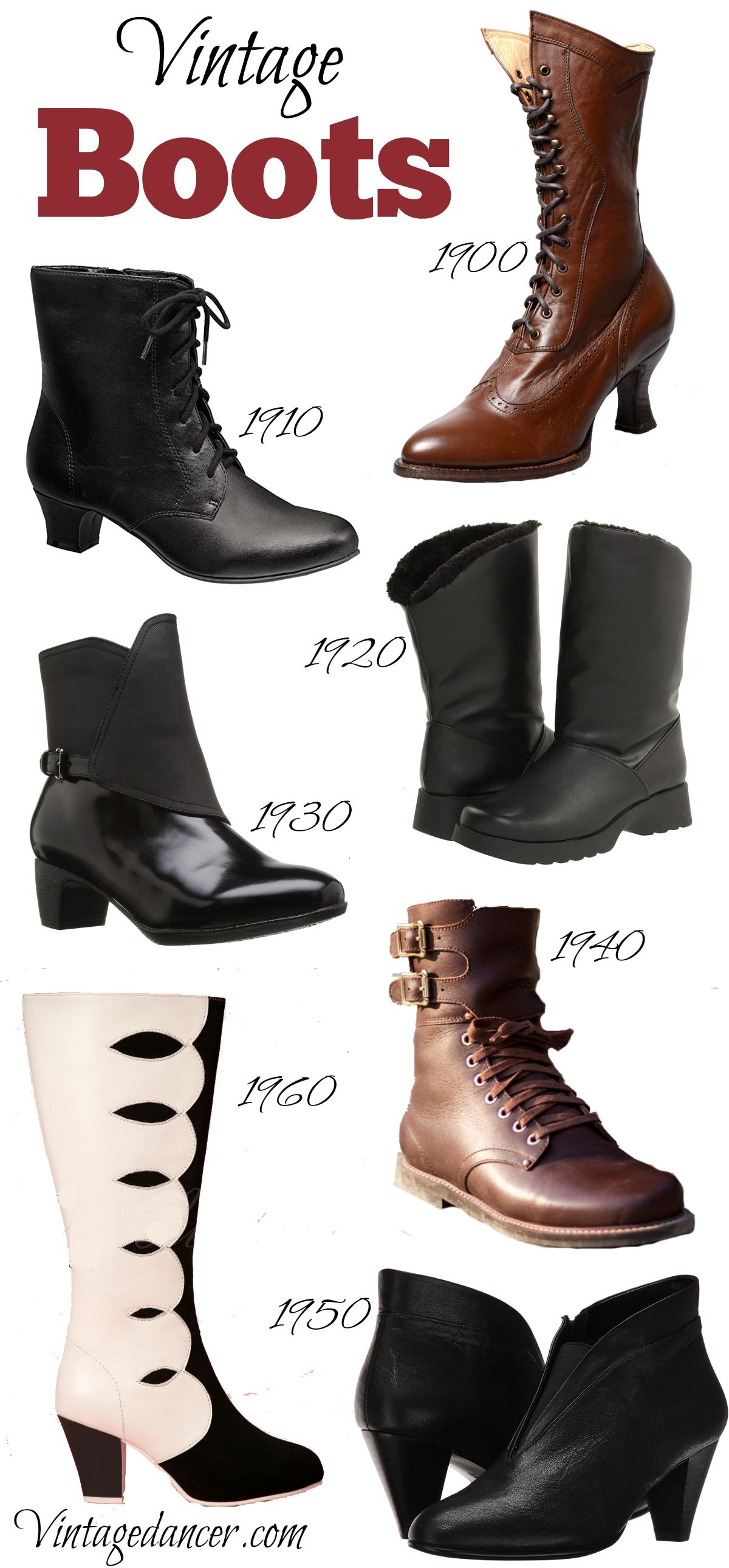 Vintage Style Boots- New Boots with a Retro Past e96c8ada0228