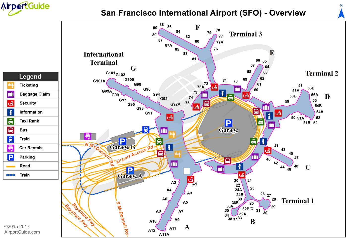 sfo map terminal 1 San Francisco San Francisco International Sfo Airport Terminal sfo map terminal 1