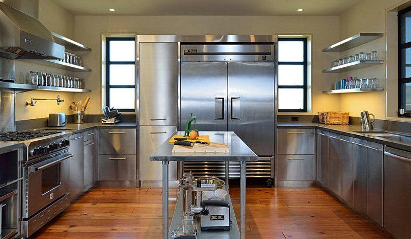 Stainless Steel Kitchen Cabinets Perfect Choice For Everyone Darbylanefurnit In 2020 Luxury Kitchen Cabinets Metal Kitchen Cabinets Stainless Steel Kitchen Cabinets