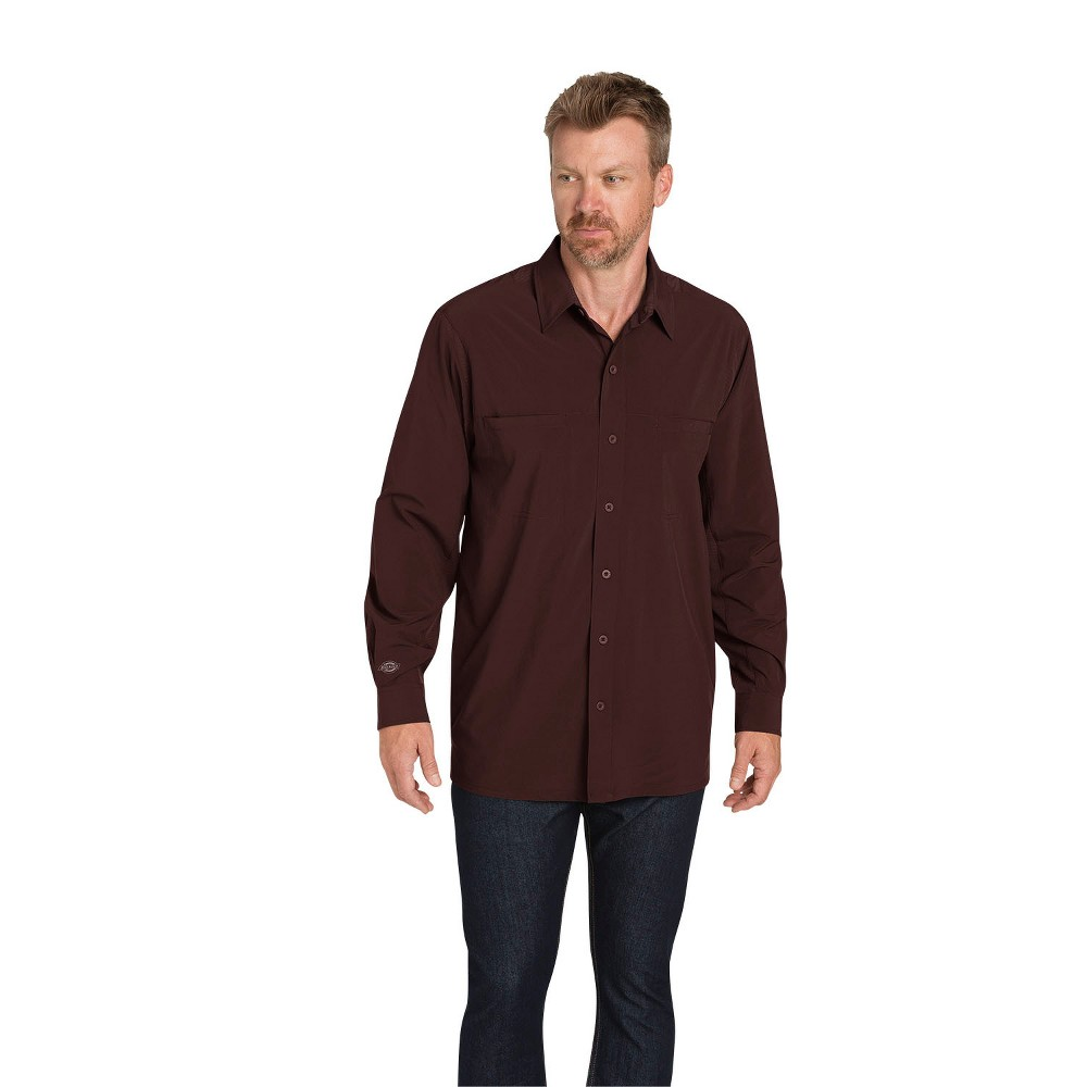 Dickies Men S Cooling Flex Long Sleeve Shirt Cave M Size Small