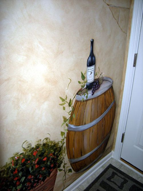 Wine Barrels Wine Collection Murals Wine Cellar