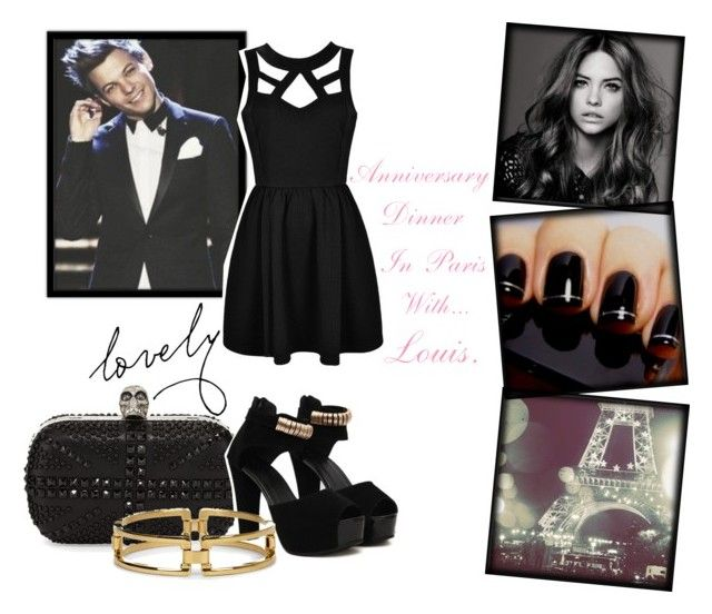 """""""Anniversary Dinner in Paris with... Louis."""" by alejandra-28lh ❤ liked on Polyvore featuring Alexander McQueen, Ally Fashion, Chanel, Sole Society, women's clothing, women's fashion, women, female, woman and misses"""