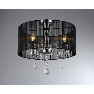 Warehouse Of Tiffany Indoor Chandelier Black