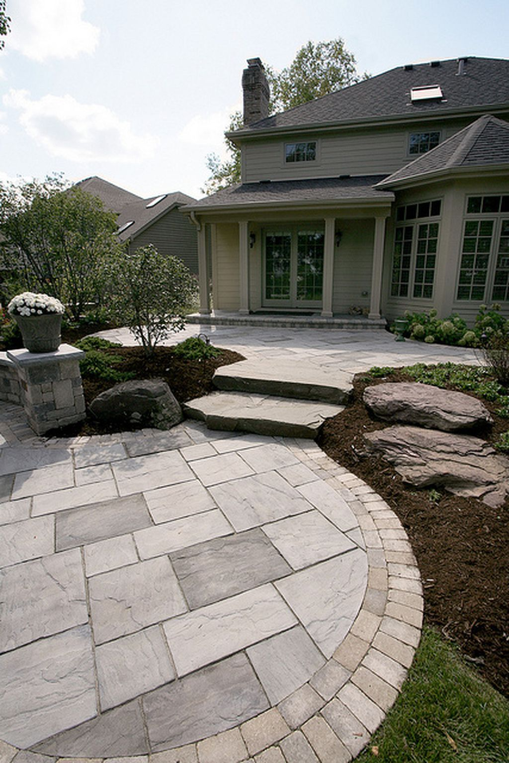 In home garden ideas   Paver Patio Ideas  Patios Backyard and Enclosed patio