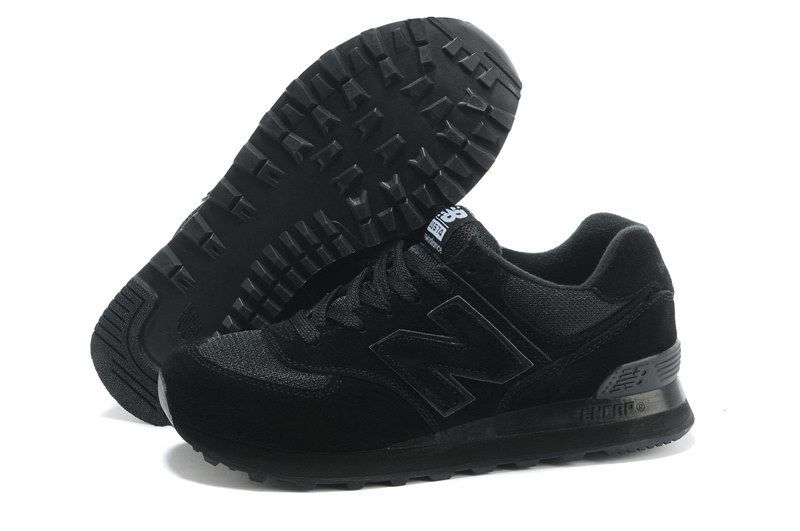 Joes New Balance 574 Running Classic All Black Womens Shoes