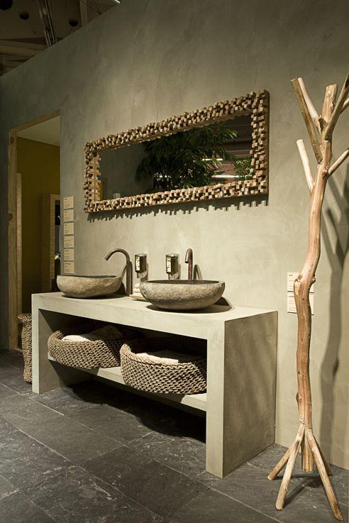 Béton ciré couleur Karonga | Bathroom decor | Beton ciré, Salle de ...