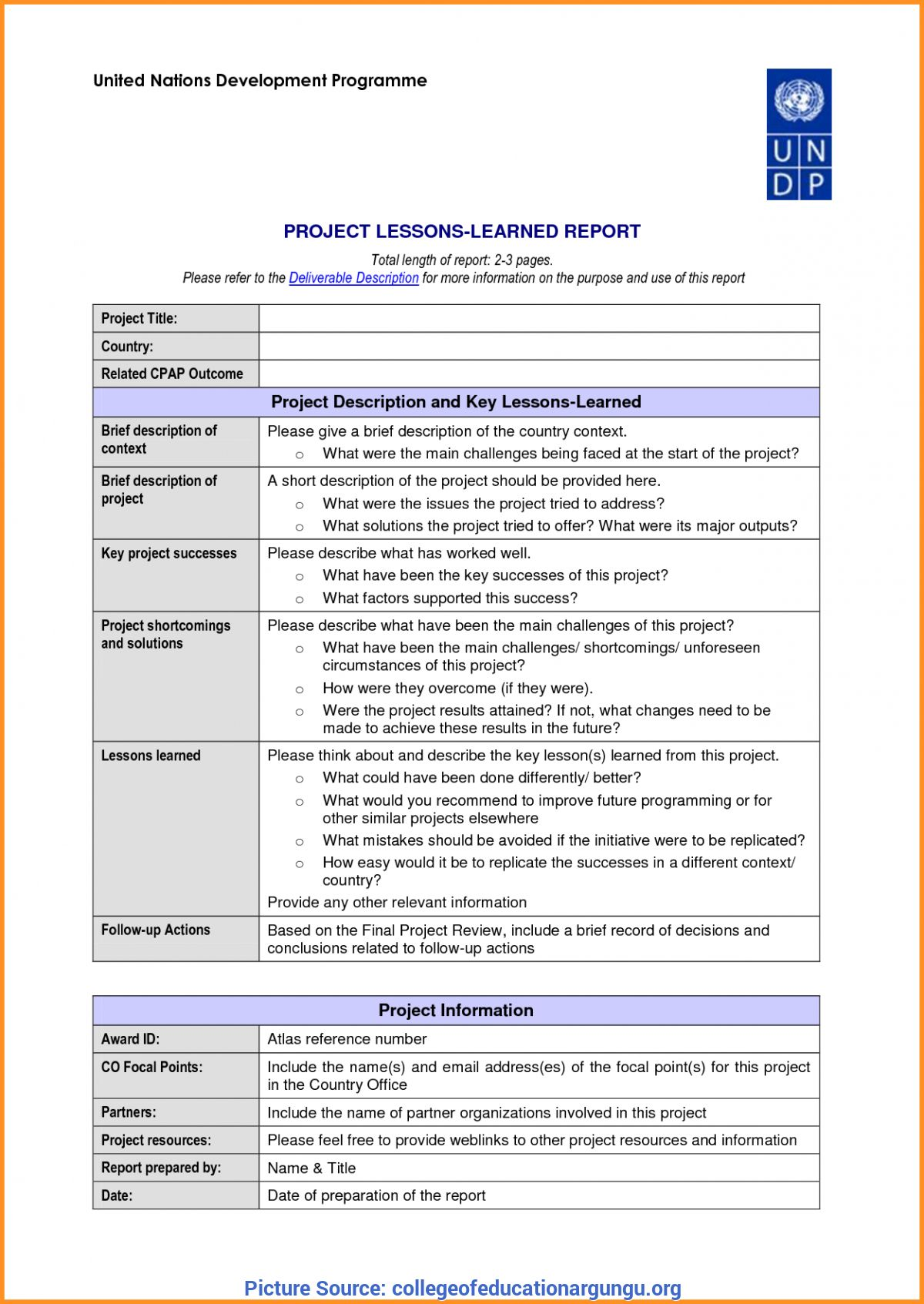 The Awesome Great Hse Lessons Learned Template 23 Lessons Learnt Report Regarding Lessons Learnt Report Te Lessons Learned Report Card Template Report Template Project management lessons learned template