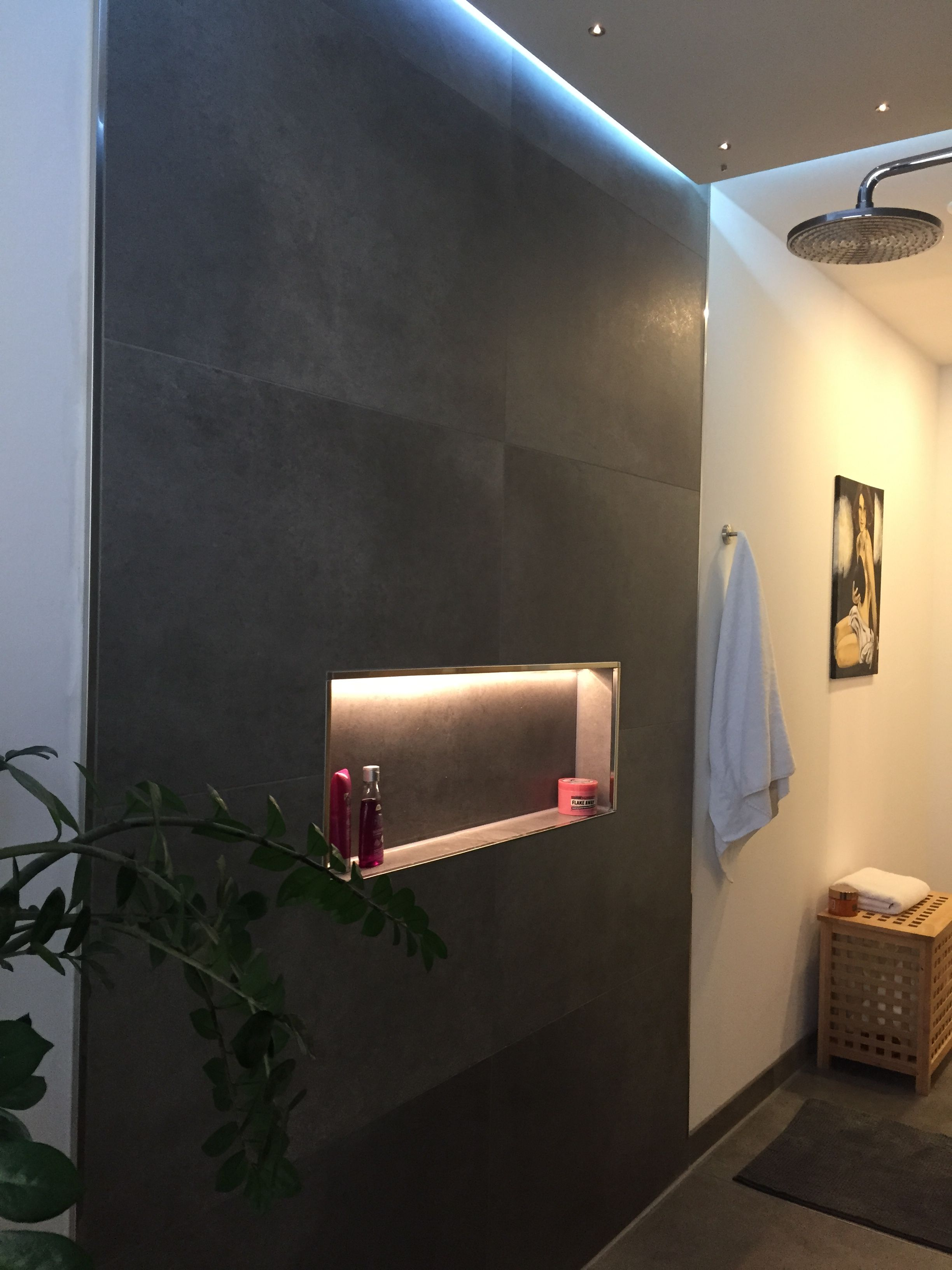 Bathroom, Shower, Light, Indirect, Indirekte Beleuchtung, Abkastung, LED,  Badezimmer