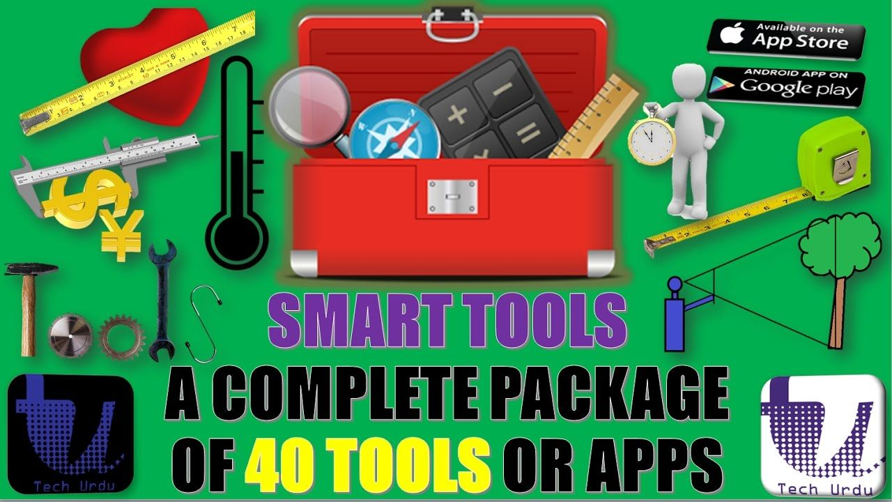 SMART TOOLS A COMPLETE PACKAGE OF 40 TOOLS OR APPS