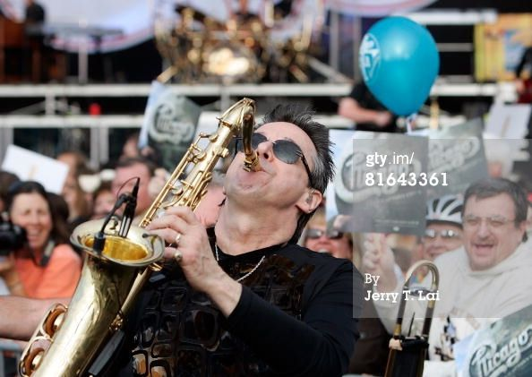 Sax player Walt Parazaider of the rock band Chicago performs