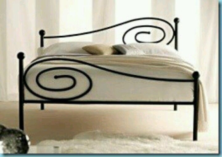 I Do Love A Wrought Iron Bed This Asymmetrical One Is Cool