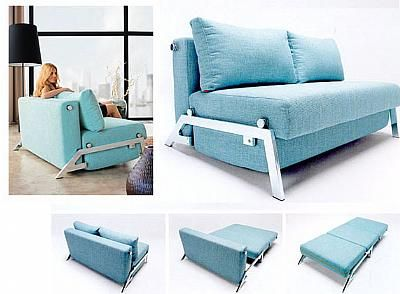 Turkish Blue Sofa Bed