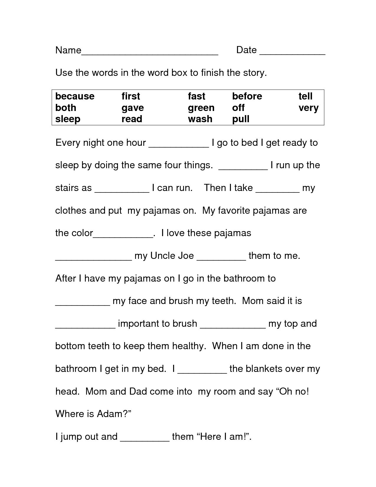 3rd Grade Worksheets
