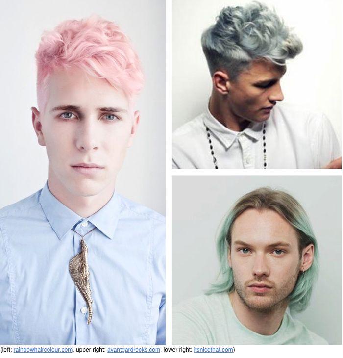 men with pastel hair love