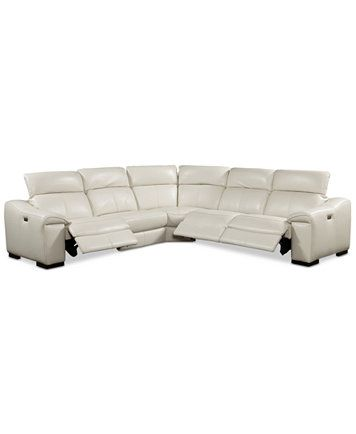 Kelsee Power Reclining With Articulating Headrest Sectional Sofa Collection Only At M Power Reclining Sectional Sofa Leather Sectional Sofa Leather Sectional