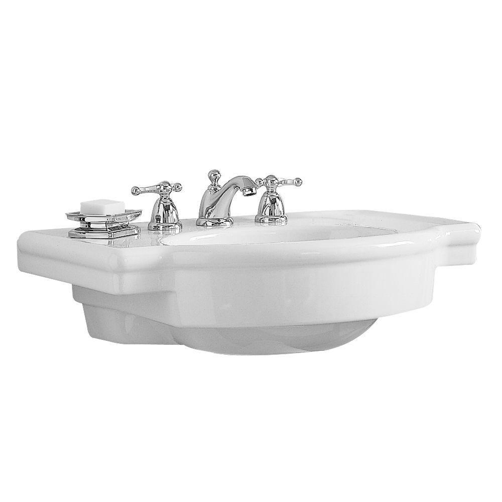 American Standard Retrospect 27 In W Pedestal Sink Basin In White