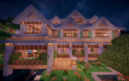 Flower Forest 2 Story House Creation 7312 Cute Minecraft Houses Minecraft Cottage Minecraft House Plans