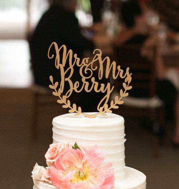 Custom wedding cake topper, personalized cake topper ...
