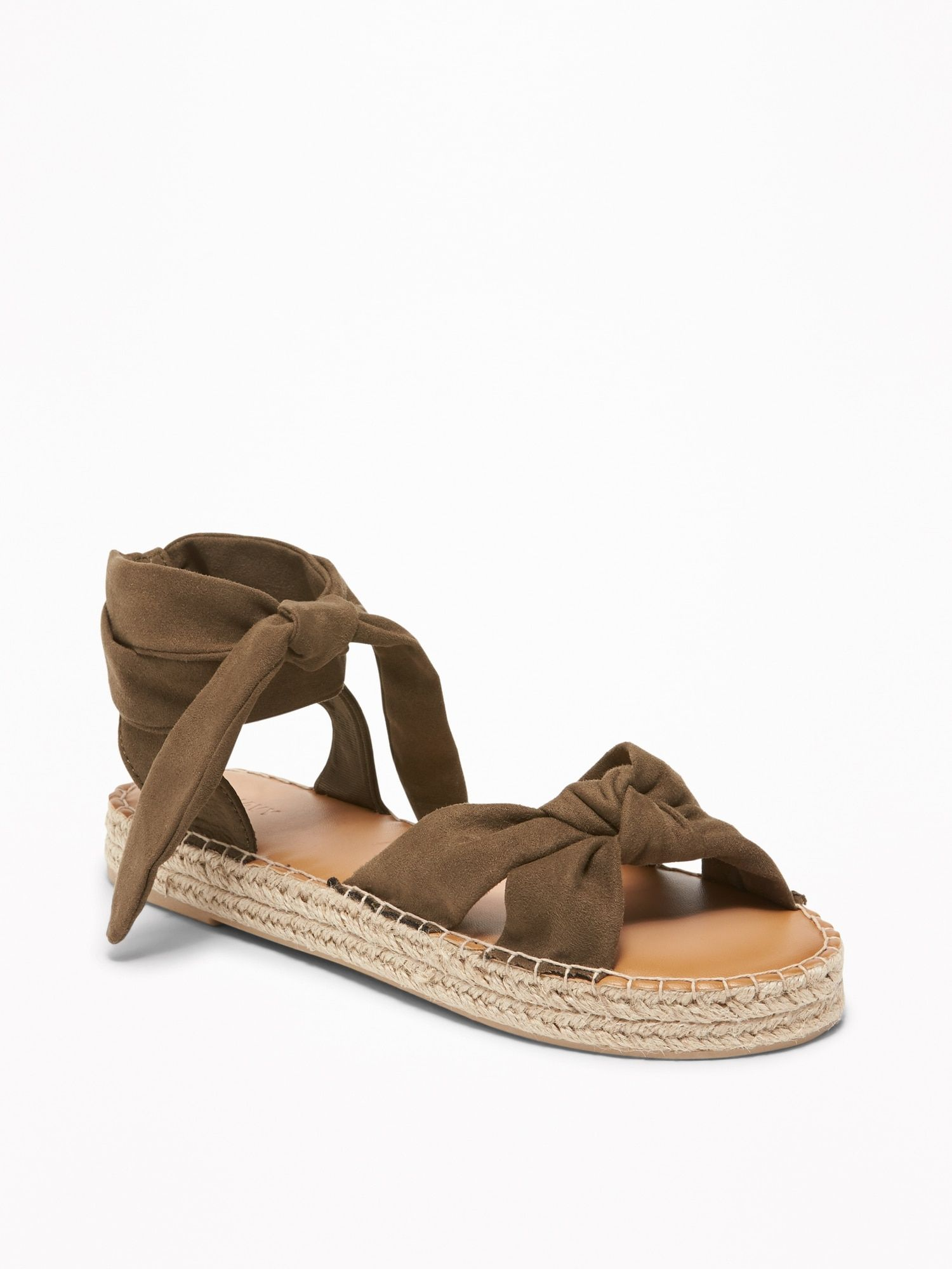 6f572c800e1e Sueded Lace-Up Platform Espadrilles for Women in 2019