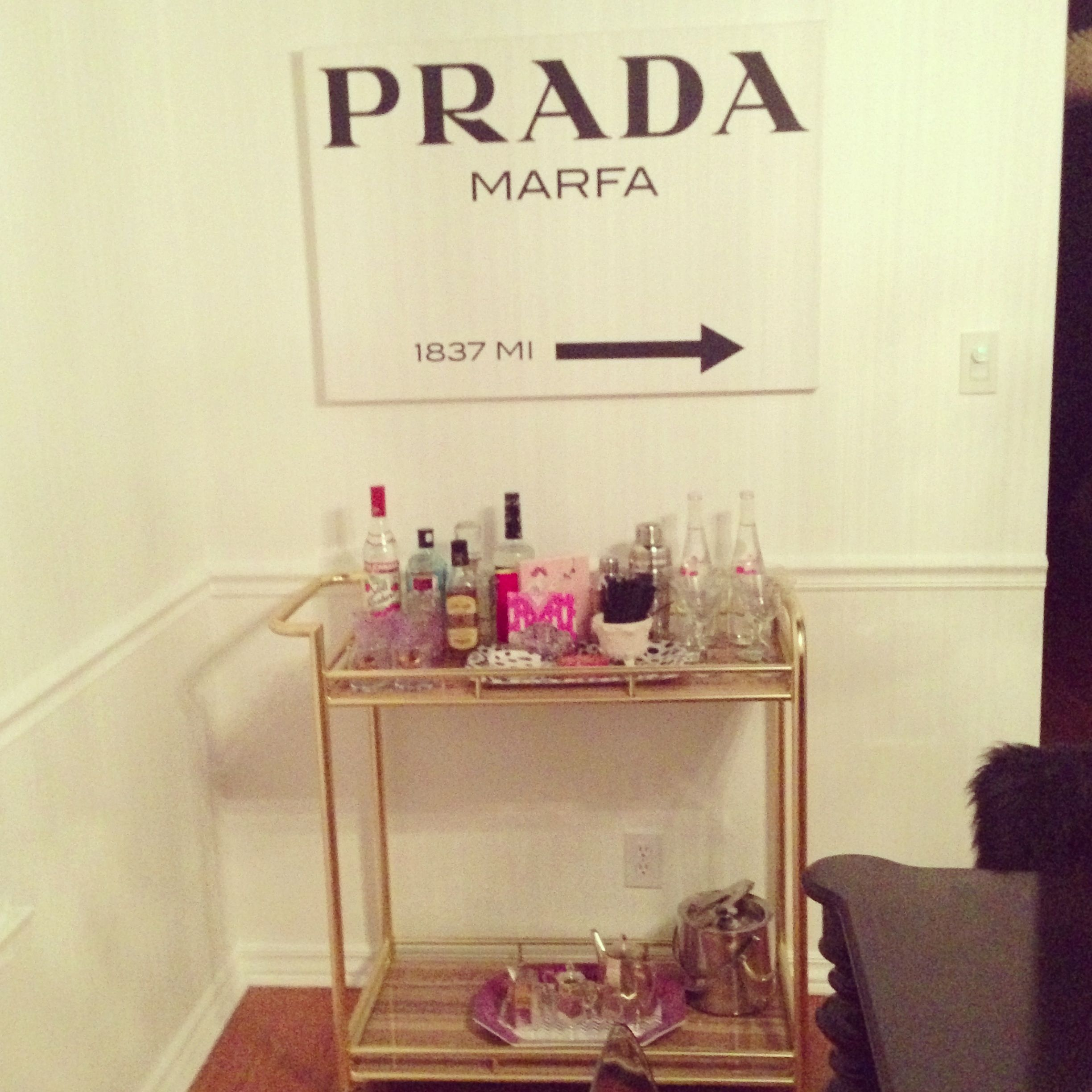 Bar cart from home goods prada marfa canvas from for Casa home goods