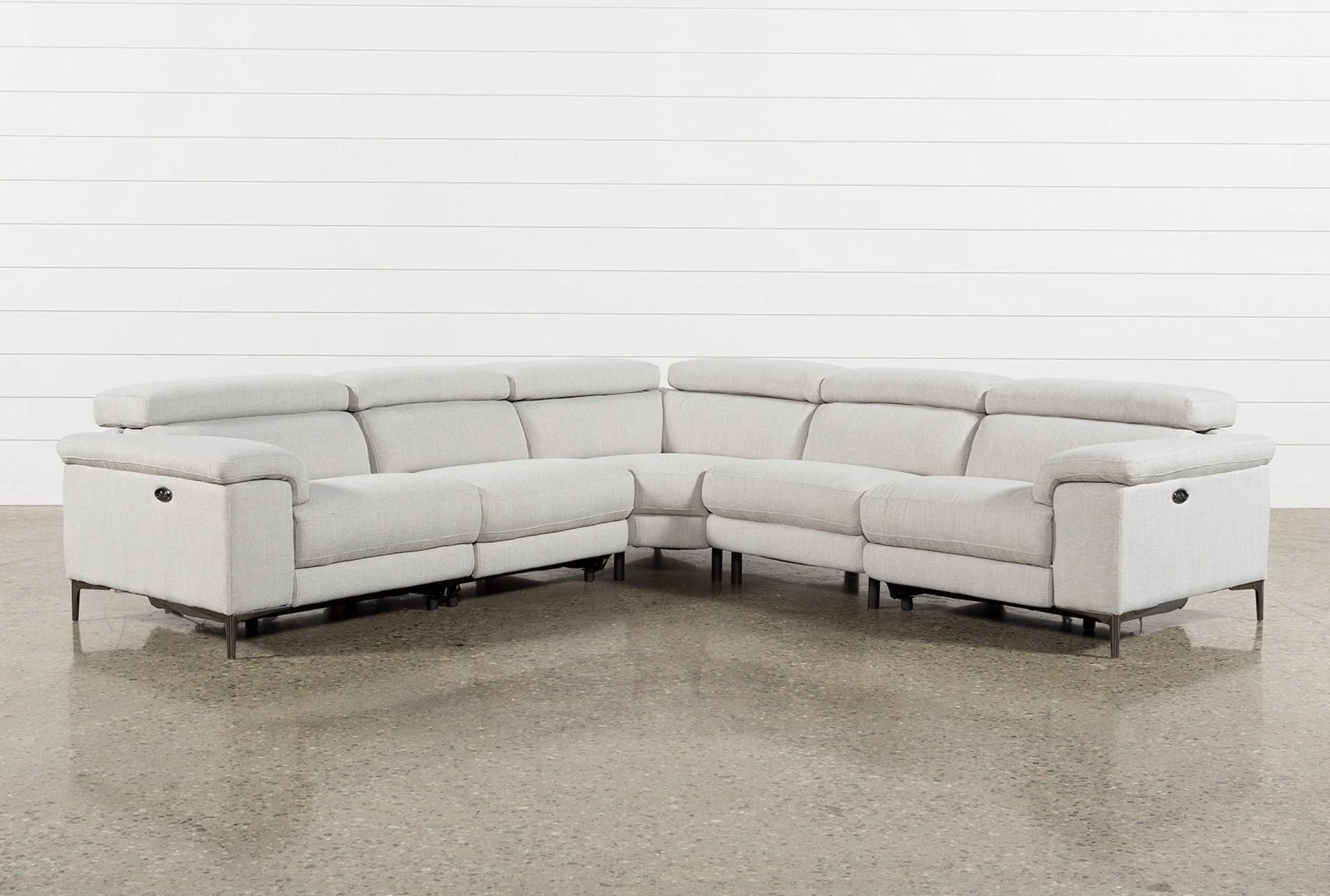 Super Talin Linen Ii 5 Piece Power Reclining Sectional Sofa Caraccident5 Cool Chair Designs And Ideas Caraccident5Info