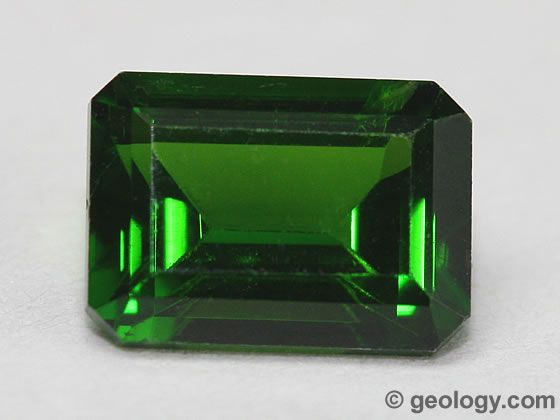 the chrome green diopside gemstone is from russia this