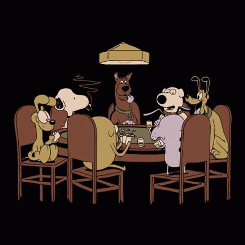 Dogs Playing Poker Snoopy Odie Scooby Doo Brian Family Guy Peanuts Pluto Disney Funny Disney Cartoons Dogs Playing Poker Snoopy Love