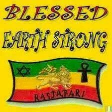 Blessed Earthstrong Happy Birthday Rasta Art Jamaica Most High